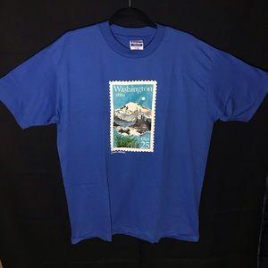 1989 Vintage Washington Stamp Tshirt Tee 80s retro